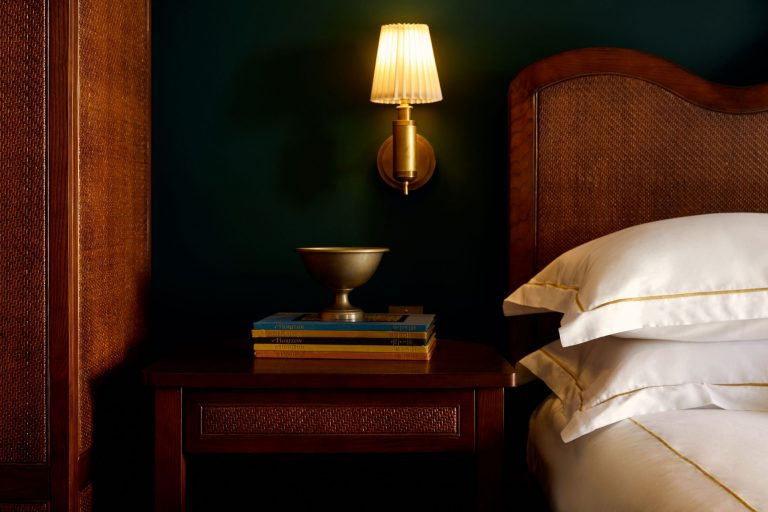 Village King Room Nightstand with Books